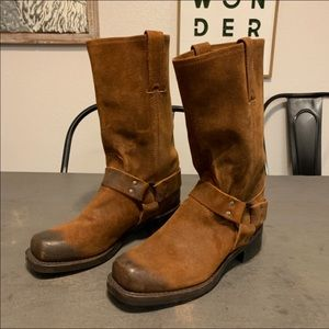 Men's Frye leather harness 12R combat boots